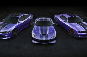 2016 Charger SRT Hellcat with Plum Crazy Paint and Stripes