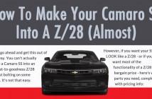 Camaro SS to Z28
