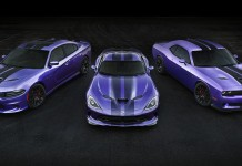 2016 Dodge Hellcats Exclusive Stripes, Plum Crazy Paint